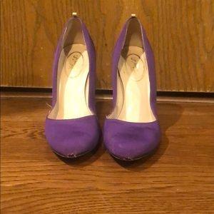 Purple Sarah Jessica Parker heels